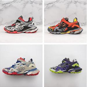 TOP Uomo Donna Casual Scarpe traccia 2 scarpe da tennis di marca di lusso 19FW bianco Track2 lace-up sneakers jogging 3M Triple S escursionismo Chaussures
