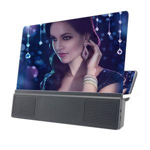 12inch HD Geniş ekran Cep Telefonu Ekran Büyüteç 3D Video Ses Amplifikatör Standı Telefon Tutucu Parantez