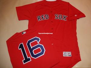 Boston pas cher sur mesure # 16 ANDREW Benintendi Jeu Flex base JERSEY RED 48 Mens maillots piquées Big and Tall TAILLE XS-6XL A vendre