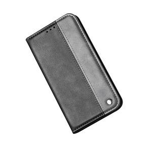 Pour Iphone 12 11 XS MAX XR X XS 8 Plus 7 6 SE 5 Suce en cuir Wallet Case Fermeture COUVERTURE carte magnétique emplacement hybride Bicolor Titulaire