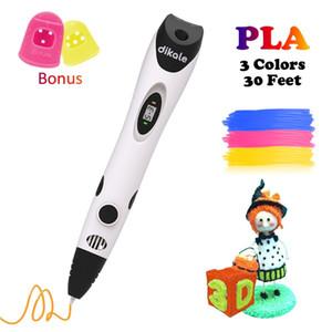 Dikale 3D طباعة القلم USB Canetas Criativa 7 الجيل Impresora السحري 3D القلم خربشة رسم القلم PLA الشعيرة كيد الكبار هدية Y200428