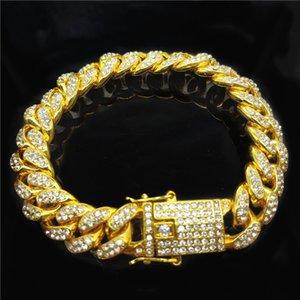 Hip Hop Style Jewelry Top Luxury Design Bracelet 18K Full Diamond Bracelet Men Cuban Chain Fashion Accessories Supply