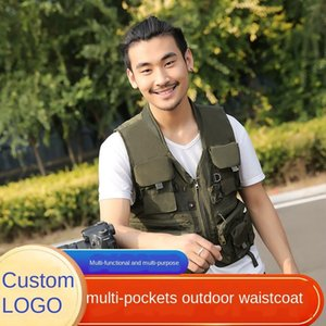 outdoor multi-pocket multi-functional leisure clothes clothes fishing travel director clothing breathable fishing clothing