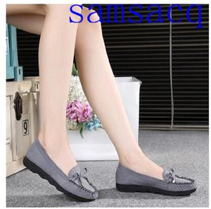 Women oxford samsacq Spring shoes genuine leather loafers for woman sneakers female oxfords ladies single shoes strap 2019 summer shoes