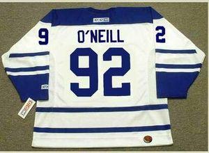 Personnalisé hommes jeunes femmes Vintage #92 JEFF O'Neill Toronto Maple Leafs 2005 CCM Hockey Jersey Taille S-5XL ou personnalisé n'importe quel nom ou numéro