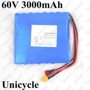 celular de la marca 60v 16s litio 3Ah li-ion 60v 18650 3000mah 15A BMS 600w 800w para 60v monociclo eléctrico de batería monopatín Scooter