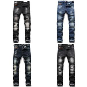 Yepyeni Dizel Erkekler Jeans Sıkıntılı Biker Mens Slim Fit Biker Motosiklet Denim Jeans Skinny 2020 Moda Tasarımcısı Pantolon Ripped Ripped
