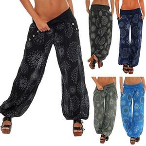 Hermosa de las nuevas mujeres ropa holgada acampanados pierna ancha largo Harem señoras de Bohemia sueltan los pantalones