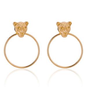 Il nuovo modo grandi orecchini Vivid testa del leopardo ciondola personalizzato Lega Orecchini per le donne
