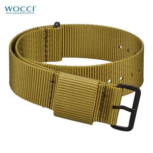 WOCCI Olive Nato Watch Band 18мм 20мм 22мм 24мм сплошной цвет нейлоновые ремешки с большим запястьем