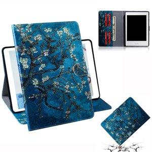 Абрикосовый цветок шаблон горизонтальный флип кожаный чехол для Amazon Kindle Paperwhite 4 / 3 / 2 / 1, с держателем слота для карт бумажник