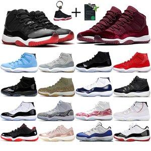 Nueva jumpman 11 11s zapatos para hombre de baloncesto de la heredera de la noche marrón pantone criado entrenadores deportivos Concord 45 Space Jam diseñador de los hombres zapatillas de deporte