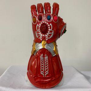 2019 Yeni kırmızı Avengers 4 Demir Adam eldiven kostüm Led sonsuzluk dayağı thanos eldiven Avengers Süper Kahraman Hulk prop IronMan PVC maske Yetişkin