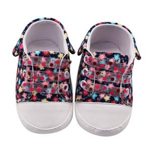 Lace-up Canvas Nastro Weixinbuy neonate traspirante stampa floreale antiscivolo scarpe di tela Scarpe da ginnastica morbida Soled primi camminatori