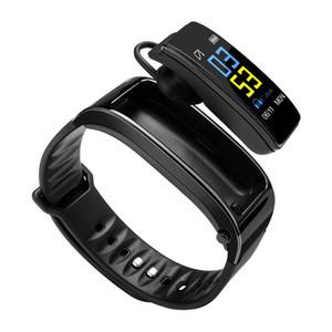 آخر Y3 بالإضافة إلى سماعة بلوتوث الرياضة الذكية أساور يدوي لمكالمة هاتفية الموسيقى ساعة اليد للياقة البدنية المقتفي مع رصد معدل ضربات القلب