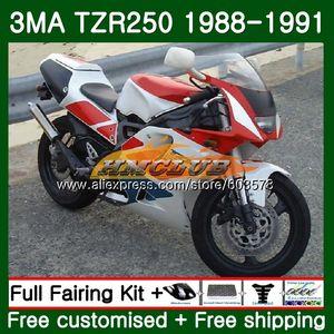 Body For YAMAHA TZR-250 3MA TZR250 1988 1989 1990 1991 Red White 121CL.40 TZR250RR TZR250 YPVS TZR 250 88 89 90 91 Fairing