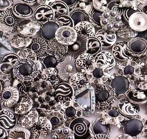 18MM Rivca broches de presión del botón de la joyería del Rhinestone flojo de los granos mixtos cuero del estilo de ajuste para el Noosa joyería collar de las pulseras DIY de DHL