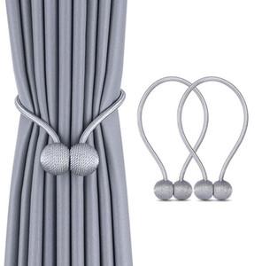 1pc Pérola magnética Corda Bola Curtain Tie Backs clipes Holdbacks Buckle Acessório Rods Acessórios Gancho titular casa Decoração