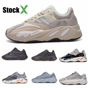 2020 Azael Alvah 700 V3 Mens Designer Shoes Kanye West incandescenza bianca In Dark modo di alta qualità del progettista donne degli uomini addestratori correnti Wit # DSK532