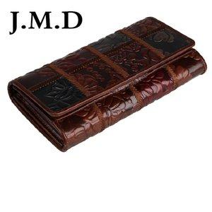 Ямайский доллар Бесплатная доставка дубления натуральная кожа сложить бумажник для женщин портмоне монетки 8094