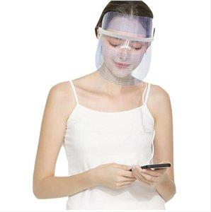 LED 아름다움 얼굴 3 컬러 라이트 터치 치료 장비 페이셜 스파 트리트먼트 장치 안티 여드름 주름 제거 마스크