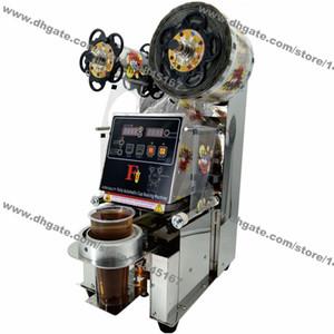 Ücretsiz Kargo 90 / 95mm Paslanmaz Çelik 110v 220v Elektrik Oto Boba Bubble Tea Cup Sealer Makinesi Sızdırmazlık