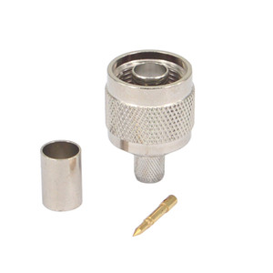 N-Type Masculino conector RF Coaxial Connector for RG5 LMR240 RG59 RG6 cabo coaxial de RF Connector