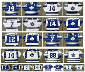 Hóquei Toronto Maple Leafs Vintage Jersey 12 Errol Thompson 7 TIM HORTON 14 DAVE KEON 88 Eric Lindros 7 Lanny McDonald 7 GARY ROBERTS CCM