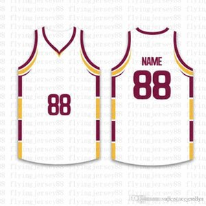 Top personalizado Basketball Jerseys Mens bordado Logos Jersey frete grátis por atacado baratos qualquer nome de qualquer número Tamanho S-XXL
