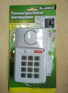 Security Keypad Door Alarm System With Panic Button For Home Shed Garage Caravan 110dB for Door Shed Garage instant delay Chime