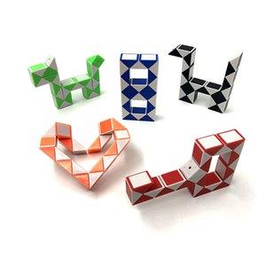 giocattoli Intelligence Development pieghevole deformazione del cubo bambino creativa di puzzle 24 Paragrafo magico di varietà righello giocattolo per bambini