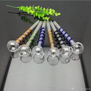Colore piastra in filo di vetro vaso di vetro dritto bolle all'ingrosso di vetro Bongs bruciatore di olio tubi di vetro tubi di acqua per tubi acqua, olio.