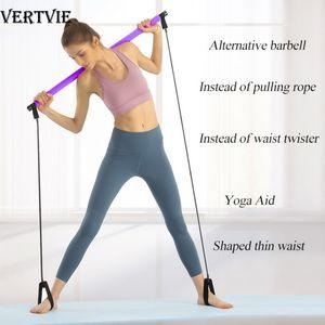 Yoga Pilates resistencia a las oscilaciones palillo de culturismo tube gym Bandas elásticas Herramienta de formación de fitness herramienta de ejercicio deportes de interior