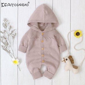 2020 New Long Sleeve Autumn Winter Button Baby Children Clothes Thickened Boys Cotton Hooded Jackets infant Girls Coat 0-2 Y