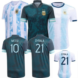 20 21 Arjantin futbol forması ev uzakta milli takım Messi Lautaro DYBALA copa amerika 2020 2021 futbol erkekler kadınlar ve çocuklar gömlek