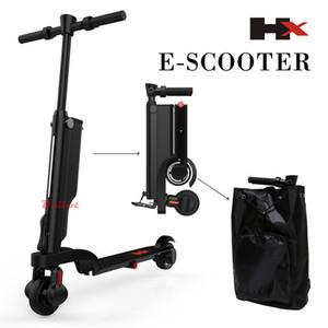 Yetişkinler 2 Tekerlek Katlanabilir Elektrikli Scooter Mini Taşınabilir Sırt Çantası E-Scooter ile Bluetooth Hoparlör için HX X6 Katlama Elektrikli Scooter
