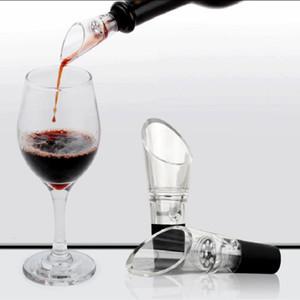 Dayanıklı Şarap Havalandırıcı ile Paslanmaz Çelik Süzgeç Kırmızı Şaraplar Pourers Geniş Ağız Tasarım Plastik Borulu Dekanter Taşınabilir Ücretsiz Kargo