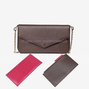 All'ingrosso delle donne Classic Leather Bag tre-in-One spalla Diagonale mini tracolla a catena cinghia Retro Envelope Bag tre pezzi Piccolo Squa