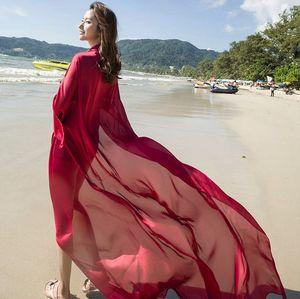 women Soft Beachwear Beach Shawl plush size imitated silk Beach Sarong Swimsuit Wrap Cover 140*190cm LJJK2141