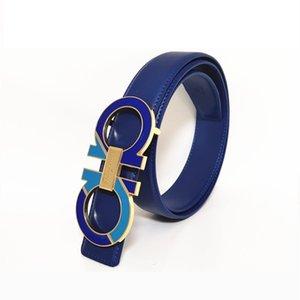 2020 Fashion Belt Leather Men Belt Good quality Smooth Buckle Mens Belts For Women Belt Jeans Strap 05