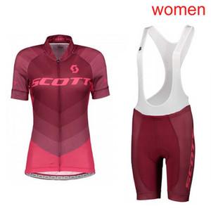 2019 SCOTT Womens Bisiklet Jersey Seti Yaz nefes Mtb Bisiklet Giyim Bisiklet Gömlek 3D Önlüğü Şort Takım Ropa Ciclismo Spor Y052806