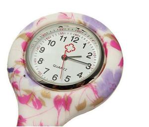 간호사 시계 의사 쿼츠 시계 실리콘 배터리 시계 얼룩말 표범 인쇄 포켓 시계 어린이 선물 시계 11 개 색상 EEA1369-5