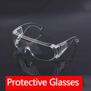 Stokta Emniyet Gözlükler Toz Rüzgar Geçirmez Kum Kanıtı Anti-sis Şeffaf Koruyucu Gözlük Anti-toz Yağmur geçirmez Darbe Emniyet Gözlükler yılında