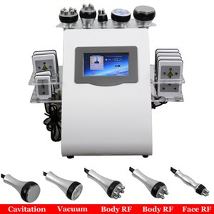6 IN 1 Ультразвуковой Lipo кавитация машина 40кГц Ультразвуковая кавитация жир Лазерная Кави Lipo для похудения тела Контурная Spa Оборудование салона
