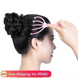 Fünf-Finger-Kopf Relax Massage Haar gehalten SPA Scalp Hals Stress Relief Massage Freigabe Leitender Arzt Stahlkugel Massage