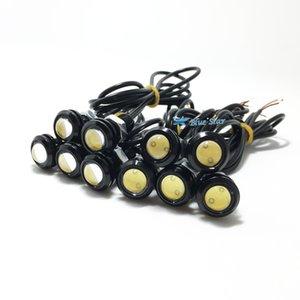 Os mais recentes 10pcs 18 milímetros LED Águia Luz Eye Car Fog luz DRL luzes diurnas Reversa backup Estacionamento Signal