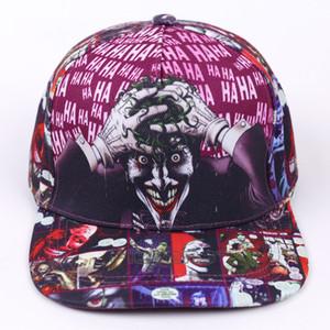 DC Comic The Joker Marca Snapback Cap Imprimir Moda Homens Mulheres ajustável Baseball Caps Adulto Hip Hop Hat