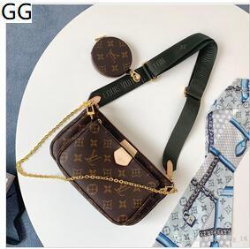 2020 Designer Luxus-Handtasche Handtasche Frauenschulterbeutel L Blume 3 PC-Frauen Kettenbügel Schulter pruses Beutel Q7 0AUF
