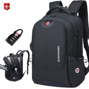 Marke Swiss 17-Zoll-Laptop-Rucksack Männer USB-Lade Spielraum-Rucksack-Schule-Beutel-Nylon wasserdichte Rucksäcke Frauen bagpack Mochila T191021