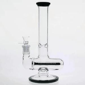 100% Real Frés Base de vidrio Tubos de agua Tallas de la articulación Reciclador Aceite Plataformas de aceite Bongs de vidrio Claro alto Percous Hookahs Caja de seguridad